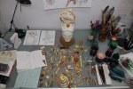 Schnipsel aus der unteren Hälfte von Versunken - Acryl und Tusche auf Aquarellkarton - Originalgröße 70 x 50 cm - 2006 - Foto von Susanne Haun