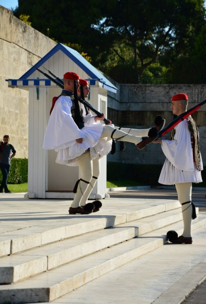 Athen Wachablösung vor dem Parlament (c) Foto von M.Fanke