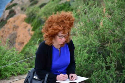 Es gibt viel für Susanne Haun zu zeichnen (c) Foto von M.Fanke