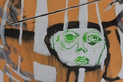 Detail Susanne Portrait - Übermalung (c) Zeichnung von Jürgen und Heike und Susanne