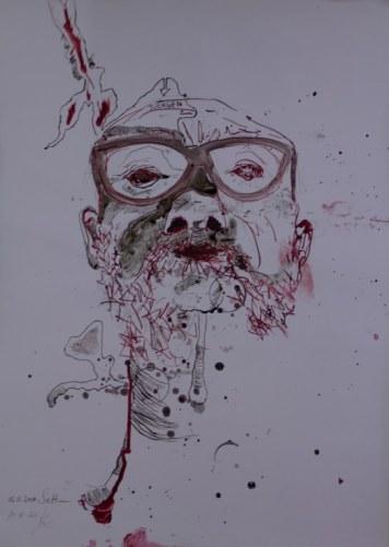 Uebermalung Juergen (c) Zeichnung von Susanne Haun
