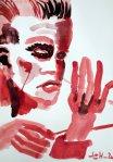 Der Dirigent - Version 2 – 58 x 41 – Tusche auf Zeichenpapier (c) Zeichnung von Susanne Haun
