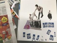 Entstehung der Collage Geborgenheit und Freiheit (c) Foto von Susanne Haun