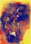 Meine Vorstellung vom Dirigent - 1 - 20 x 15 cm (c) Linoldruck von Susanne Haun