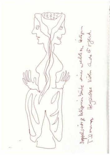 Unvergleichlich - Kunst aus Afrika im Bode-Museum (c) Zeichnung von Susanne Haun