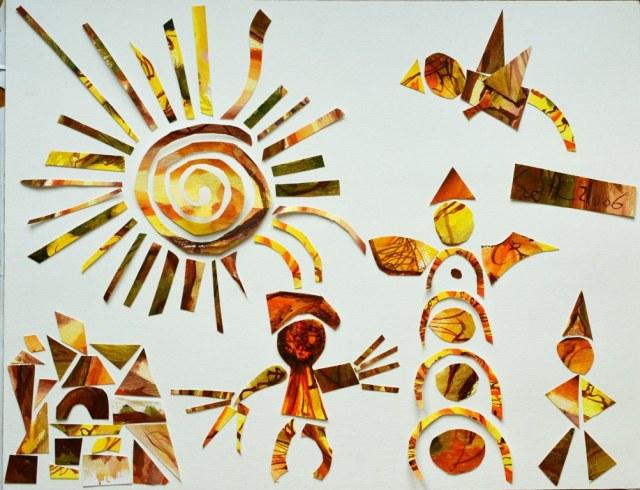 Zirkus im Sonnenschein (c) Collage von Susanne Haun