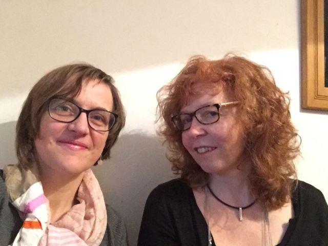 Doreen Trittel und Susanne Haun beim Vorbereitungstreffen im kleinen Glück für den Salon (c) Foto von Doreen Trittel