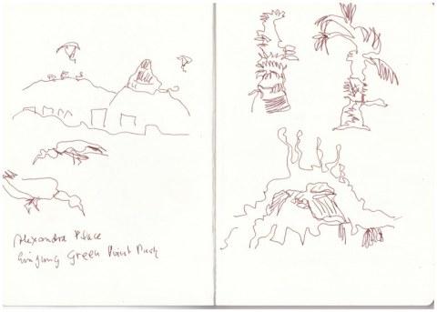 Afrika 1. Skizzenbuch - Kapstadt (c) Zeichnung von Susanne Haun