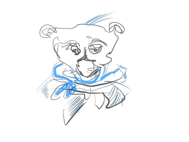 Bär (c) Zeichnung von iPad von Susanne Haun