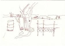 Vom Orange River zum Fish River Canyon (c) Zeichnung von Susanne Haun