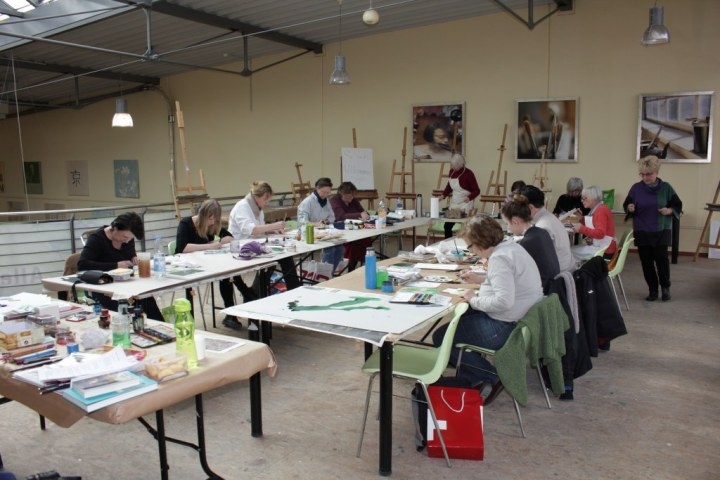 Workshop reale und surreale Welten Boesner Berlin (c) Foto von Susanne Haun
