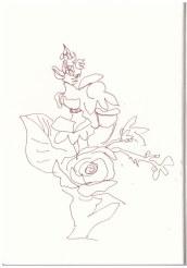 Sonntagsspaziergang - Blumenstrauß (c) Zeichnung von Susanne Haun