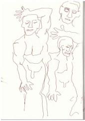 Sonntagsspaziergang - Denkmal des 17. Junis (c) Zeichnung von Susanne Haun