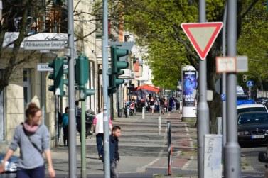Transvaalstrasse kurz vor dem Ziel - der Eisladen Kibo (c) Foto von M.Fanke