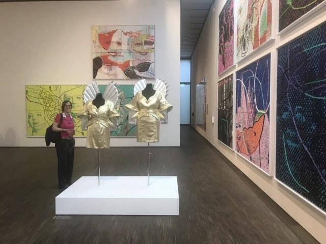 Doreen Trittel in der Ausstellung Eva und Adele, me Collectors Room Berlin, Foto von Susanne Haun