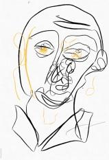 Portrait Nr. 1 (c) Zeichnung iPad von Susanne Haun