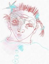 Portrait Nr. 11 (c) Zeichnung iPad von Susanne Haun
