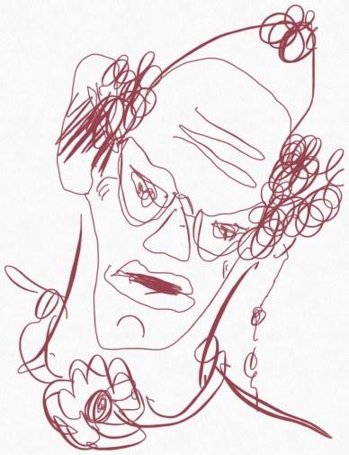 Portrait Nr. 16 (c) Zeichnung iPad von Susanne Haun
