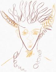 Portrait Nr. 4 (c) Zeichnung iPad von Susanne Haun