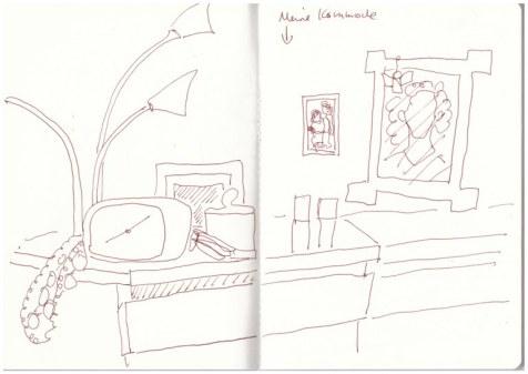 Meine Kommode (c) Zeichnung von Susanne Haun