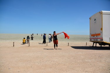 Es windet in der Etosha Pfanne (c) Foto von M.Fanke