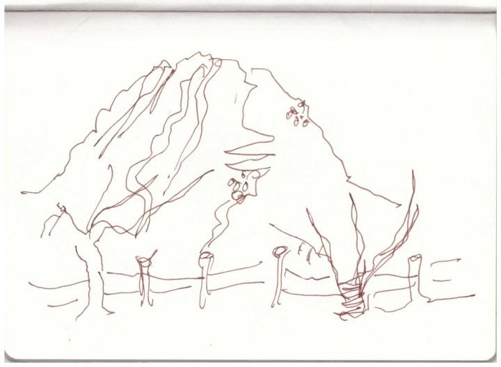 Campingplatz Windhoek (c) Zeichnung von Susanne Haun