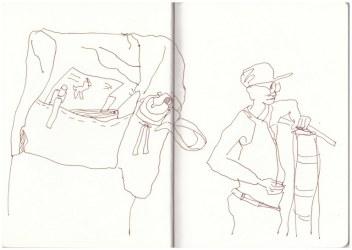 Von Windhoek nach Ghanzi (c) Zeichnung von Susanne Haun