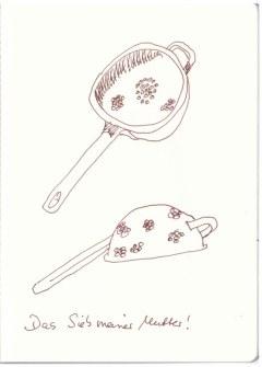 Mamas Sieb (c) Zeichnung von Susanne Haun