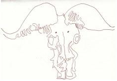 Skulls als Anschauung im Chobe Nationalpark (c) Zeichnung von Susanne Haun