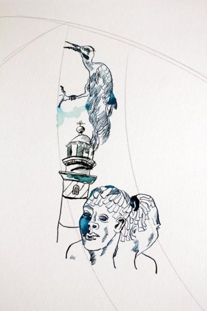 Entstehung Green Point Kapstadt (c) Zeichnung von Susanne Haun