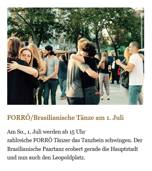 Forró, Brasilianische Tänze am 1. Juli auf dem Weddingmarkt in Berlin am Leopoldplatz (c) Foto Weddingmarkt