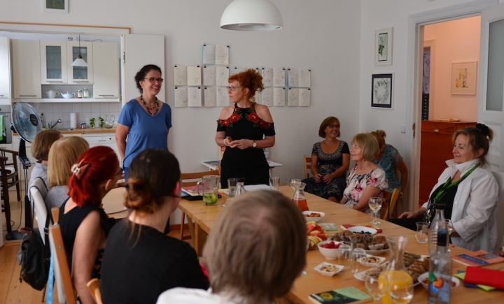 Impressionen vom KunstSalon bei Susanne Haun - Gast Anke Boche-Koos (c) Foto von M.Fanke