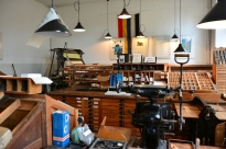 Michas Blick in Hilmars Buchdruckmuseum in Krakow (c) Foto von M.Fanke