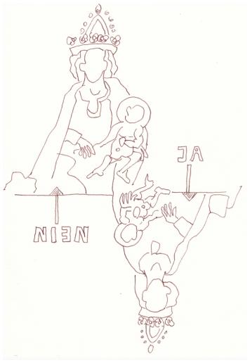 Maria - Mutter - Ja - Nein (c) Zeichnung von Susanne Haun