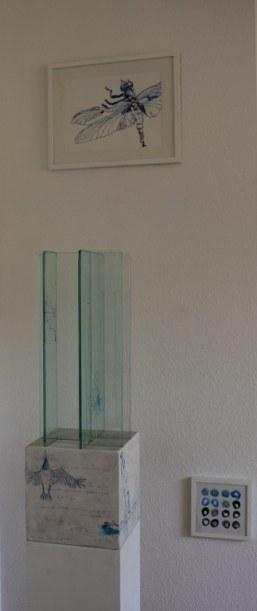 Ausstellungsansicht KunstRaum Susanne Haun - Florales (c) Foto von Susanne Haun