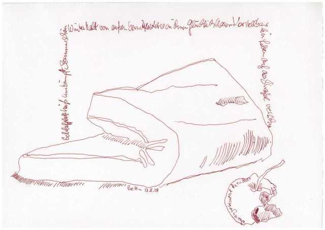 Obdachlos - Das Paradies kann warten - Zeichnung von Susanne Haun (c) VG Bild Kunst, Bonn 2018