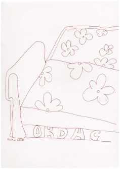 Obdachlos - Ein Platz zum Schlafen - Version 4 - Zeichnung von Susanne Haun (c) VG Bild Kunst, Bonn 2018