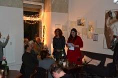 Café Motte, Impressionen Ausstellungseröffnung Querbrüche Obdachlos, Susanne Haun und Rednerin Meike Lander © Foto von M.Fanke
