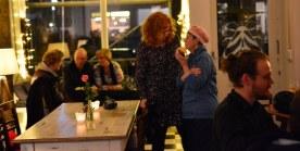 27 Café Motte, Impressionen Ausstellungseröffnung Querbrüche Obdachlos, Susanne Haun, Gabriele D.R. Guenther © Foto von M.Fanke