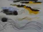 Impressionen vom Workshop Traumlandschaften Mixed Media bei Boesner Berlin - Dozentin Susanne Haun