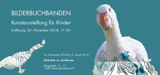 Ausstellung BilderbuchBanden - Bibliothek am Schäfersee - Susanne Haun im Eichhörnchenverlag