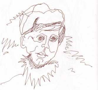 Knud Rasmussen - Annäherung an einen Menschen - Zeichnung von Susanne Haun (c) VG Bild Kunst, Bonn 2018