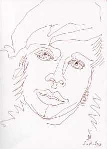 Knud Rasmussen - Annäherung an einen Menschen - Zeichnung von Susanne Haun (c) VG Bild Kunst, Bonn 2018Knud Rasmussen - Annäherung an einen Menschen - Zeichnung von Susanne Haun (c) VG Bild Kunst, Bonn 2018