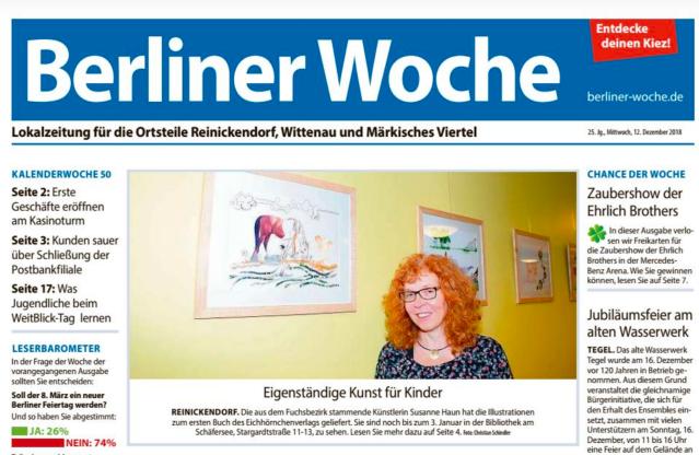 Berliner Woche 17. Dezember 2018, BilderBuchBanden Seite 1