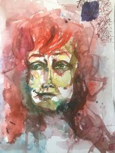 Zeichnung von Isabella, Weihnacht - Workshop im Atelier Susanne Haun