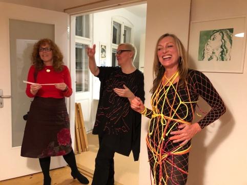 Impressionen vom 19. KunstSalon bei Susanne Haun, Gast Sabine Küster und Krystiane Vajda (c) Foto von Doreen Trittel