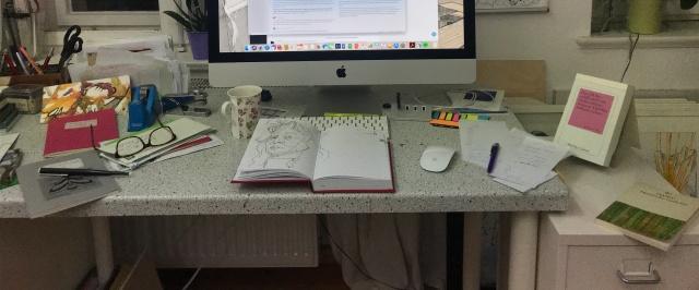 Mein Schreibtisch, Foto von Susanne Haun (c) VG Bild-Kunst, Bonn 2019