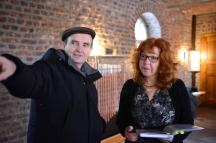 Aufbau der Präsentation Eiswelten - Susanne Haun und Martin Haeusler(c) Foto von M.Fanke