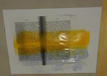 Wanderungen durch die Markbrandenburg, präperriertes Papier für Linoldruck, Susanne Haun (c) VG Bild-Kunst, Bonn 2019