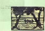 Bild 2 - Zwischen Straupitz und Laasow - Version 1 - Linolschnitt von Susanne Haun - 15 x 21 cm - 2 von 12